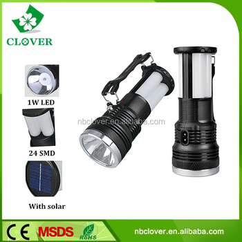 1W LED+24 SMD ABS material rechargeable led camping lantern
