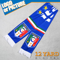 Double side printed Italy national team scarf banner world cup fans neck shawl