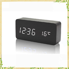 Cheap bulk christmas gifts new wood digital LED clock