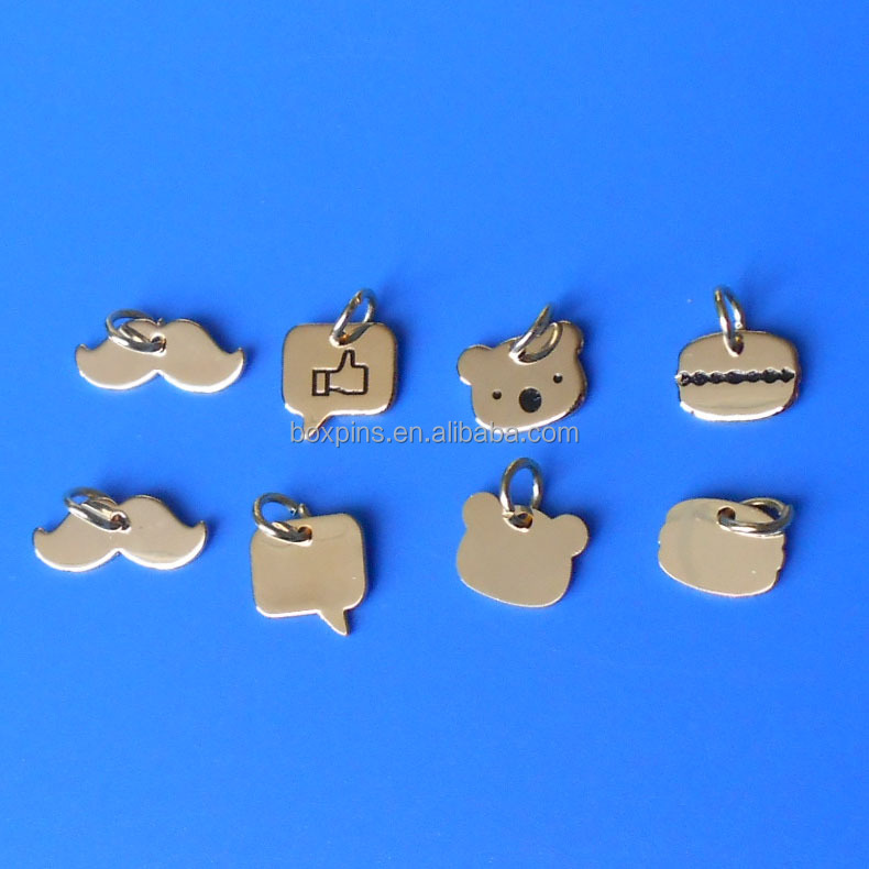 Fashion engraved custom sterling silver charms/jewelry tags