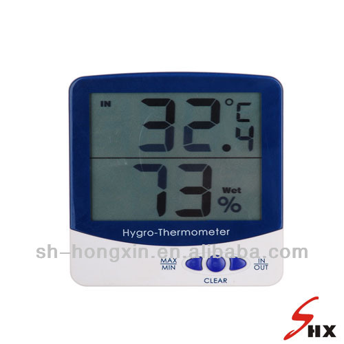 Electronic digital indoor&outdoor thermometer&hydrometer max&min temperature checking