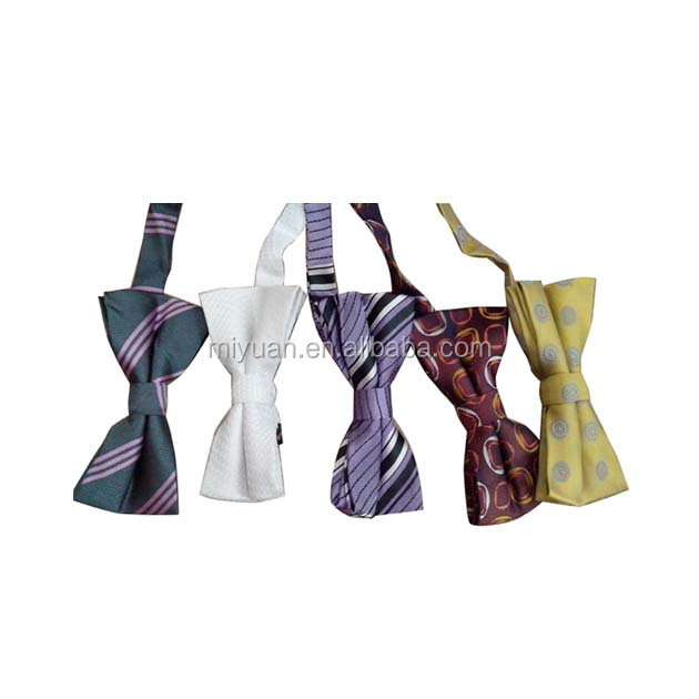 OEM promotional plain weave Korea polyester woven bowtie free shipping top quality silk rayon velvet knitted bowties