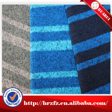 High quality cheap 100% polyester stripe sweater fleece fabric for jacket