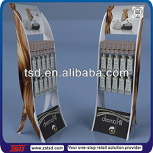 TSD-W430 custom supermarket promotion pos display stand for bath gel,exhibition furniture,hair color display racks