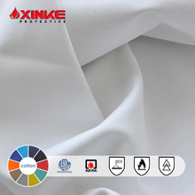 EN 1149-3100%Cotton Antistatic Satin Fr Fabric for Clothing