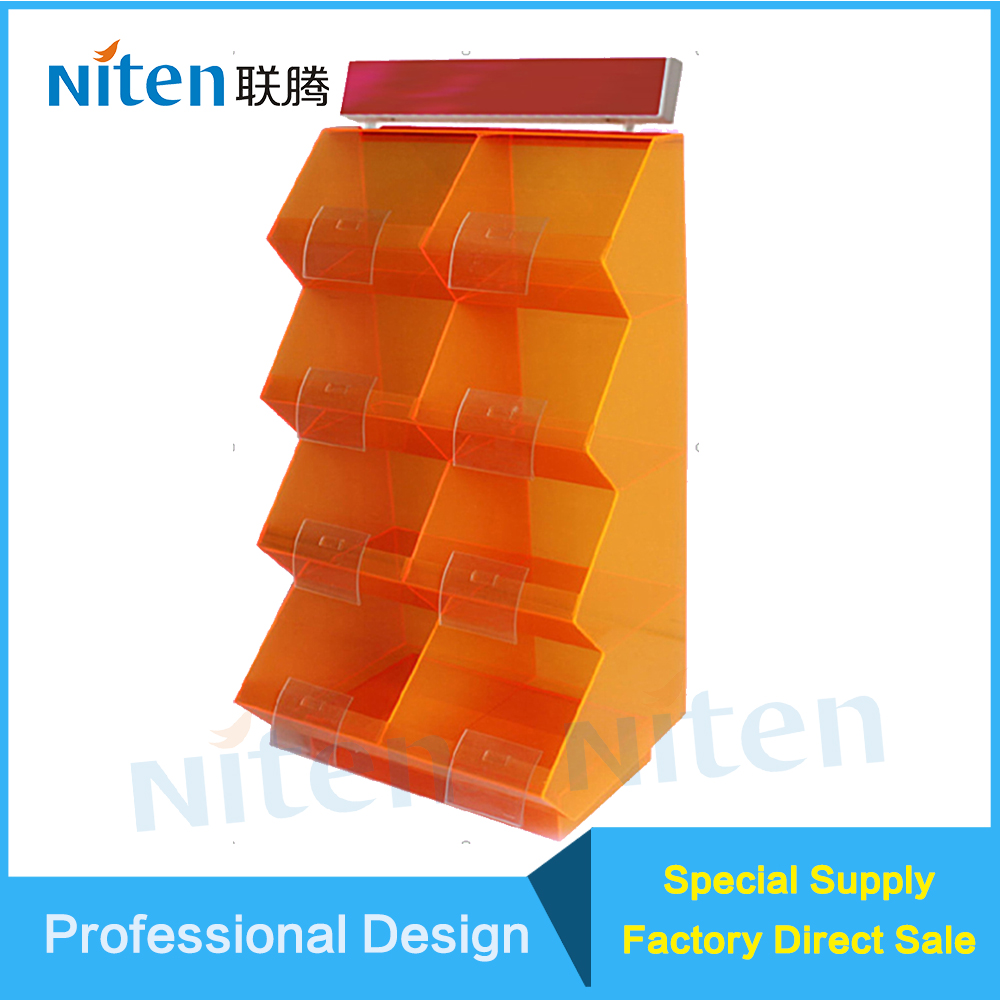 Acrylic Tray Holder Candy Box Acrylic Material for Supermarket Candy Dispenser Display Supermarket Food Rack