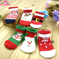Customize Unisex Soft Knitted Winter Warm Hosiery Indoor Children Gift Baby Snowflake Deer Non-slip Ugly Christmas Socks