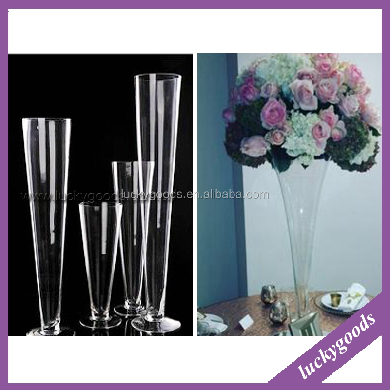 Fancy transparent glass wedding centerpiece vases