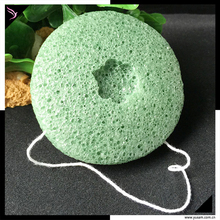 Konjac Konnyaku Facial Soft Puff Body Face Wash Sponge Exfoliator Cleansing Sponge