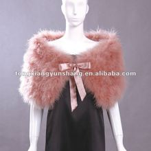 real ostrich( turkey )feather shawls customized color&size