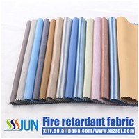 100% polyeste plain home textile fire retardant sofa set cloth fabric XJCT 0585