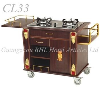 Restaurant Stainless Steel Food Warmer Cart