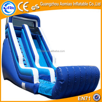 Blue newly-designed inflatable industrial water slide, TOP quanlity inflatable slide hire