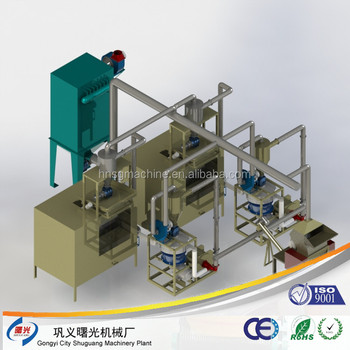 Tooth paste tubes recycling machine for aluminum and plastic