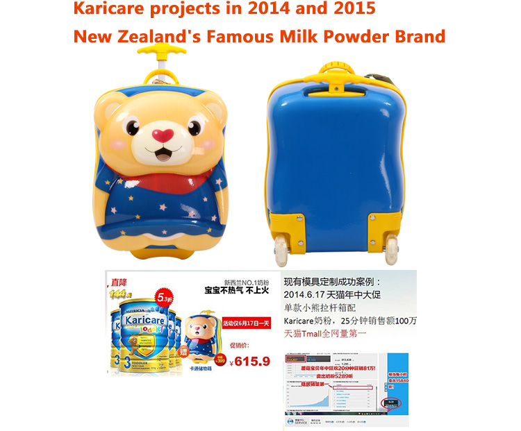 wholesale  promotional baby boy gift box gift set stationary kids luggage 3d for children girls