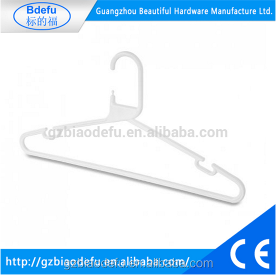 White Heavy Duty plastic cloth hanger hook , plastic coated wire hanger