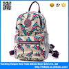 China manufacture waterproof nylon satchel school bag for girls printed women back pack casual bag