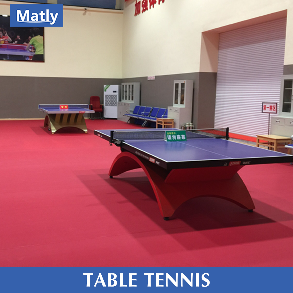 PVC indoor table tennis court flooring