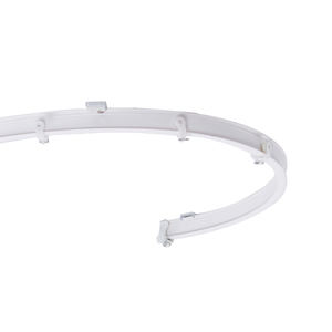 Pvc Flexible Curtain Rail ,White Plastic Bendable Curtain Track