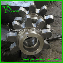 Carbon steel wheel gear parts by cnc turned, cnc machining water pump spare parts