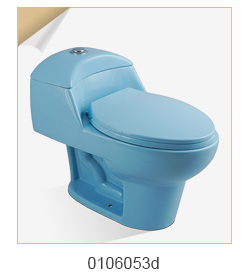 Modern Classic Color Glazed Porcelain Dual-Flush One Piece Toilet