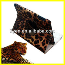 Fashion Leopard Style 360 Rotating PU Leather Smart Case Cover Stand For iPad Mini Wholesale Good Price