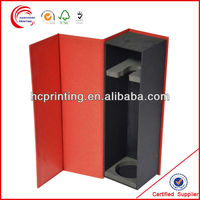 Wooden or paper box for luxury red wine promotion