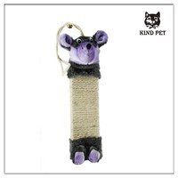 2015 Mouse shape Sisal Scratching Post hanging cat toy