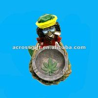 resin Rasta ashtray with Chronic Marijuana