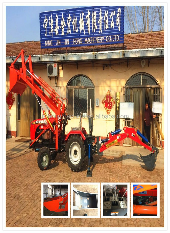 mini tractor with backhoe only sold for 8800usd for planting trees