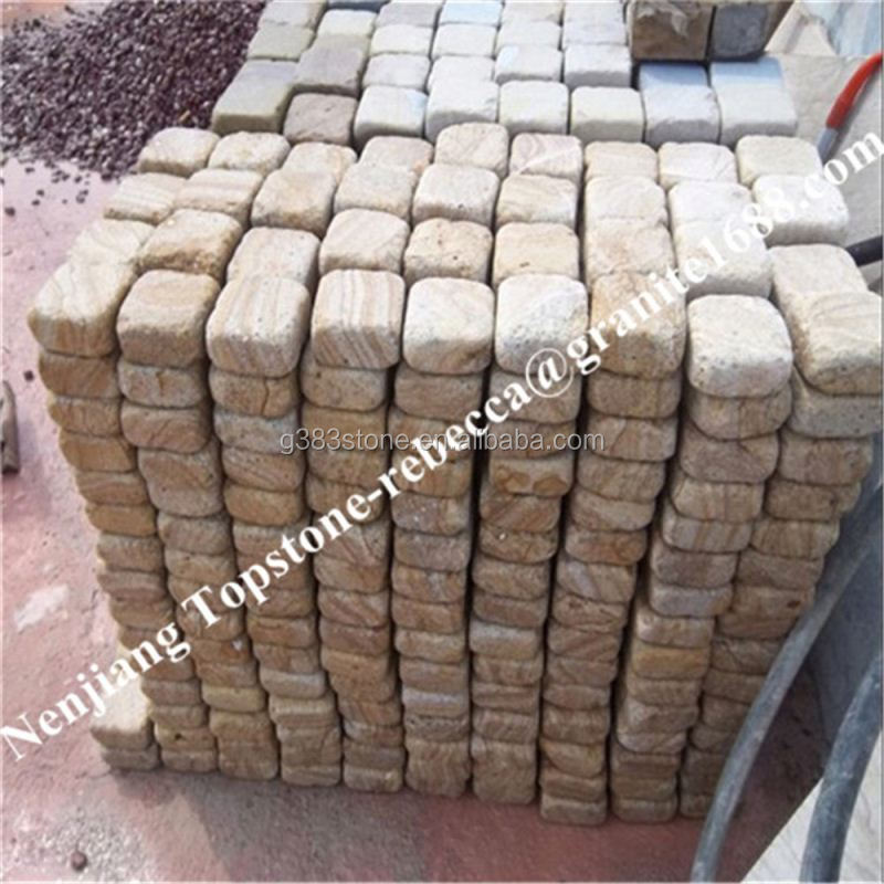 High quality stone granite floor tiles Grey granite cobbles setts