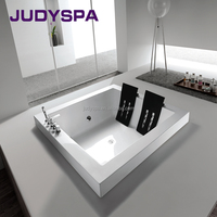 simple build-in massage bathtub,square spa tub YY619
