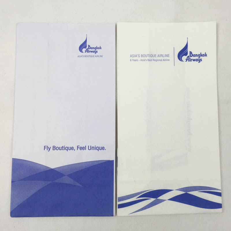 Bangkok Airline airsickness bag with tear-of line