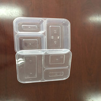 3 Compartments Food Container Divided Plate