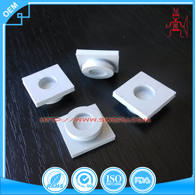 Rubber products square OEM 4mm hole rubber plug