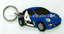 Soft PVC mini car shape keychain PVC 3D Soft rubber kids Toys gift Key chain Keyring Fashion