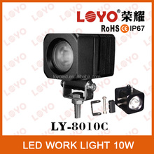 high lumen! super bright! LED work light 10W, CE, RoHs, IP67, Emark approved, for mining, agricultural and heavy duty machine