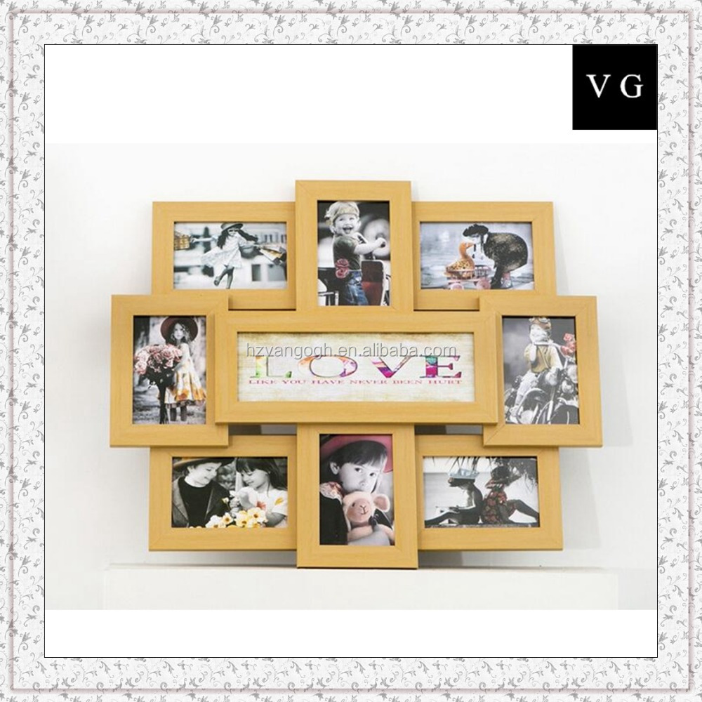 Colorful glossy photo frame wholesale gifts fridge magnet photo frame magnetic photo frame stick on the wall