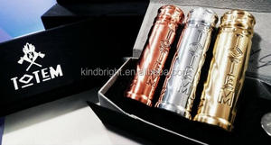 2017 vape totem mod by Vaper's Mood/ totem mod clone/totem mod 1:1 clone mechanical mod with SS , Brass color from kindbright