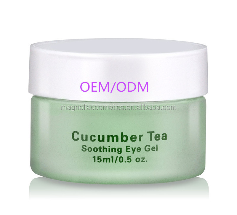 Private Label Best Natural Cucumber Tea Eye Gel for Dark Circles, Puffiness, Bags & Wrinkles
