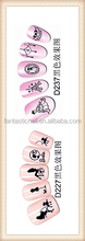 Cute Big Eyes And Wedding Dress Design Water Transfer Nail Art stickers Nail Decals