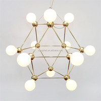 Luxury Modern Round Hanging Glass Ball Gold Chandelier & Pendant Lamp