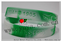 fashion silicone bracelet with recessed logo