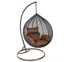 Cheap rattan outdoor double furniture swing chair hanging chair