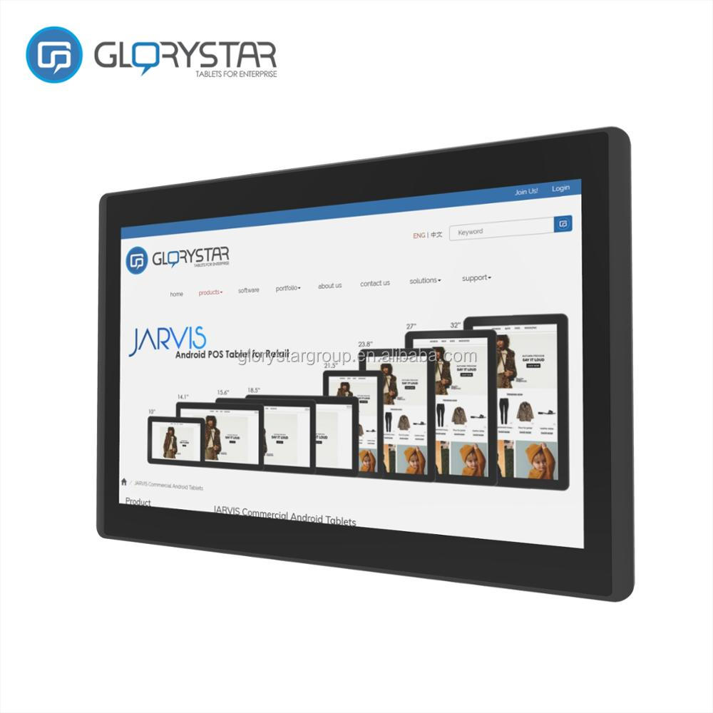 Wall mounted android tablet 10 inch / mid size POE tablet kiosk touch screen