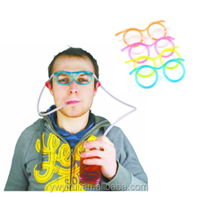Popular kids glasses plastic drinking straws
