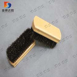 Manufacturer Wooden Base Horse Hair Eco-Friendly Shoe Cleaning Brush