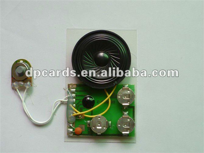 Mini Greeting Cards Voice Recordable Module