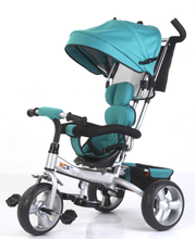 Adjustable and detachable parent push handle big 3 wheels tricycle