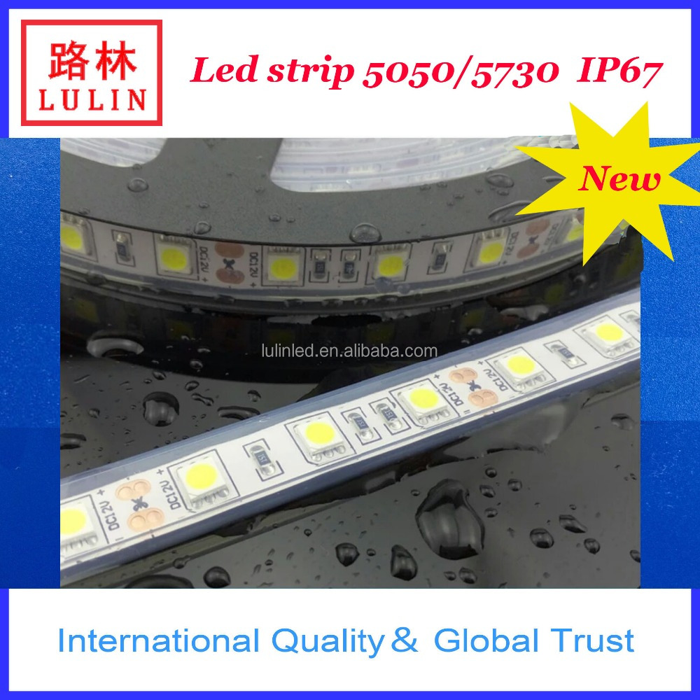 alibaba shenzhen factory led strip smd 5050/ Waterproof IP 67 with silicone tube LED flex strip /dc12v led strip